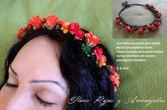 corona flores de papel y genero
