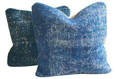 Overdyed Royal Blue Pillows, Pair on OneKingsLane.com