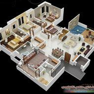 Modern way of deigning when adopted in any home design modern house floor plans are necessary ingredient. Modern house floor plans includes tile plans, ceramic tiles, carpet flooring , tugged flooring and more other ideas. Four Bedroom House Plans, 4 Bedroom House Designs, 3d House Plans, Model House Plan, House Layout Plans, Bungalow House Plans, Bedroom Floor Plans, House Layouts, Apartment Layout