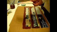 Papierröllchen Streichen