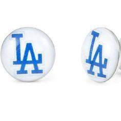 R&B Joyas - Pendientes de hombre, pendientes de botón estilo Los Angeles, acero inoxidable, color plateado / azul / blanco: Amazon.es: Joyería