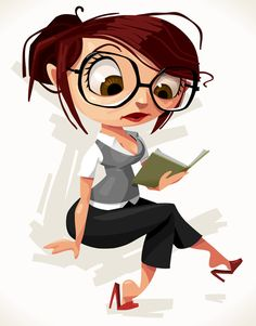 Office Woman Illustration