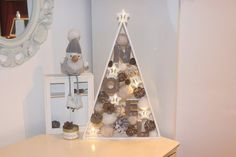Unique Christmas Trees, Handmade Christmas Tree, Wooden Christmas Trees, Wooden Tree, Christmas Home, Vintage Christmas, Xmas, Holiday Centerpieces, Christmas Table Decorations