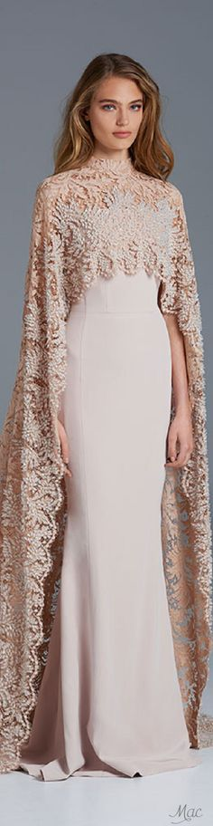 Gowns-Belle of the Ball! *Spring 2015 -2016 Couture Paolo Sebastian Blush women fashion outfit clothing stylish apparel @roressclothes closet ideas
