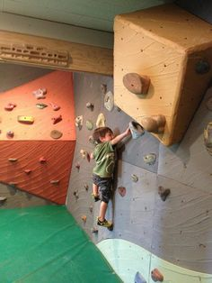 Climb Tacoma Gym - kids climbing on kites room - walls by Elevate Climbing Walls