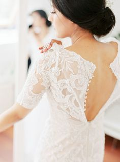 Beautiful Brand Wedding Dresses : Sheer lace with pretty button details: www.stylemepretty… | Photography: Wesley Nulens – www.wesleynulens…. - #Dress https://youfashion.net/wedding/dress/beautiful-brand-wedding-dresses-sheer-lace-with-pretty-button-details-www-stylemepretty-photography-wesle/