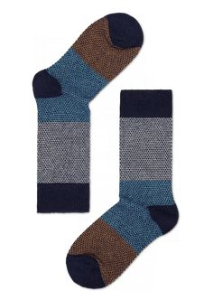 Block Wool cool socks for men & women at HappySocks.com