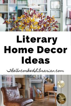 Are you looking for popular home decor trends? Find home decoration and design ideas hiding in your favorite books. You'll love this bookish and literary home decor. Tiny House Living, Small Living, Home Decor Trends, Diy Home Decor, Decor Ideas, Home Library Design, Library Inspiration, Indie Books, Rustic Farmhouse Decor