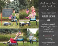 Fort Collins and Loveland Back to School Mini Sessions