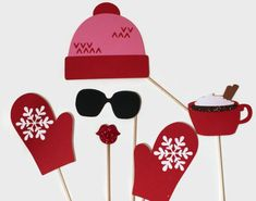 Items similar to Winter Photo Booth Props - Adorable Ski Hat and Gloves on Etsy Chrismas Party Ideas, Xmas Party, Party Time, Snow Party, Christmas Photo Booth Props, Christmas Photos, Christmas Dance, Photo Ski, Apres Ski Party