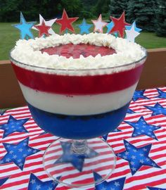 Red, White 'n' Blue Salad Recipe   - 20 Delicious Labor Day Desert Recipes