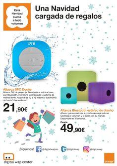 Esta #Navidad  🎅🏼🎄❄️ ¡suena a todo volumen! llévate los altavoces resistentes a las salpicaduras desde 49,90€. Disponibles en 3 tamaños.
