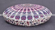 Amazon.com: Indian Large Mandala Tapestry Floor Pillows Round Bohemian Cushion Cushions Cover Ottoman Pouf / Pouffe Cover (Organic Cotton, 30 inch) by Bohomandala: Home & Kitchen