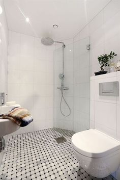 "Uhh shower door / divider ""closes"" to make more space! Wet Room Bathroom, Bathroom Plans, Bathroom Toilets, Downstairs Bathroom, Laundry In Bathroom, Bathroom Renos, Bathroom Flooring, Small Wet Room, Small Shower Room"