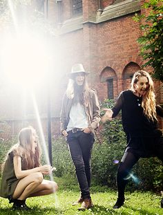 Haim. Can't wait for their show in a couple weeks! Also, I love everything Danielle is wearing.