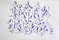 Graffiti Lettering Alphabet, Graffiti Artwork, Tattoo Lettering Styles, Alphabet Symbols, Graffiti Characters, Graffiti Styles, Street Artists, My Drawings, Cool Art