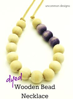 dyed wooden bead necklace bs