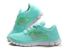 Nike Tiffany Blue Nikes Free Run 3 5.0 Pure Platinum Reflect Silver Aqua Chrome