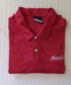 Nike Golf XL Red Budweiser Men's Polo Short Sleeve Shirt #NikeGolf #ShirtsTops