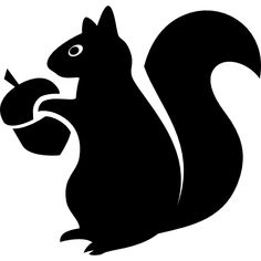 Squirrel with acorn free vector icons designed by Freepik Squirrel Silhouette, Silhouette Clip Art, Graphisches Design, Shape Design, Stencil Animal, Acorns To Oaks, Wood Burning Stencils, Rock Crafts, Vinyl Crafts