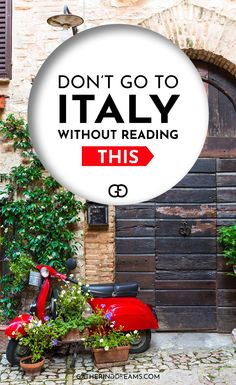 Going to Italy? You have to read these travel tips before visiting Italy! These insight tips will help you blend in with the locals and be prepared for everything you need to know about Italy.