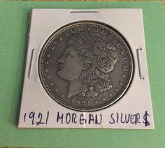 1921 Morgan Silver Dollar With Die Crack Error