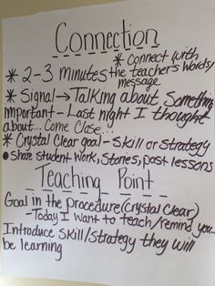 """The""""connection"""" part in the workshop. This is the first step that leads into the teaching point."""