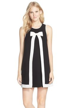 CeCe by Cynthia Steffe 'Molly' Bow Neck Crepe A-Line Dress