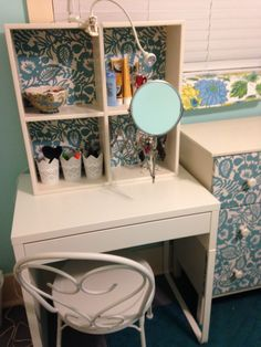 My small makeup station for a very near-sighted person