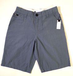 NWT Retail $50 Burton ANALOG Size 28 Moreno Shorts in Cadet Blue, Striped, Skate