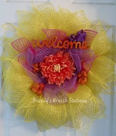 Hey, I found this really awesome Etsy listing at https://www.etsy.com/listing/236719561/sunflower-welcome-wreath
