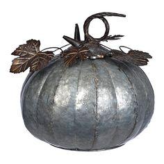 Silver Galvanized Metal Pumpkin, 12 in.   Kirklands