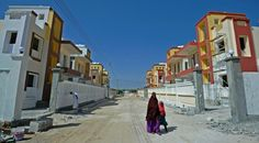 New housing estates are being built amid an economic boom as diaspora Somalis return and n...
