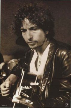 An awesome portrait poster of a late-1970's Street Legal-era Bob Dylan! Fully…