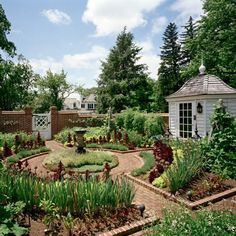Within the last little while potager gardens are currently popular for garden work design world. A lot of people wonder how to design one particular potager garden design layout Herb Garden Design, Vegetable Garden Design, Vegetable Gardening, Veggie Gardens, Organic Gardening, Farmhouse Landscaping, Garden Landscaping, Landscaping Rocks, Farmhouse Garden