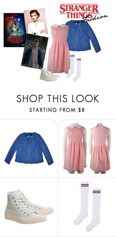 """Stranger Things Fashion #01"" by adelinejaned on Polyvore featuring Elie Tahari, Converse and Topshop"