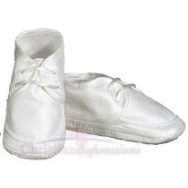 Boys Silk Dupioni Christening Shoes