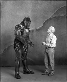 Michael Clark Duncan and Richard Zanuck, Planet of the Apes, Los Angeles, California, 2000; photo by Mary Ellen Mark