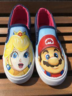 Super Mario  Shoe Art