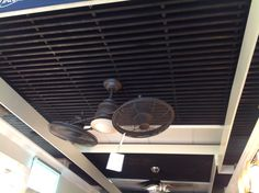 Covered back porch fan