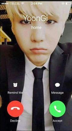 Suga ☆ porque no me llamas? TTuTT  A espera ...ya se, es porque estas al otro lado del mundo :,c