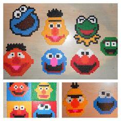 Sesame Street characters hama perler beads by pinara984