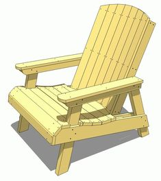 17 Free Plans to Help You Build an Adirondack Chair: Free Adirondack Chair Plan from Wood Gears