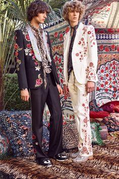 Roberto Cavalli Spring 2017 Menswear // Runway Trend : A Surreal Reincarnation of 1969 & 70's Boho Rockstar Street + Stage Style // The Jet Set // Glam Bohemian Mashup // All The Feels // Designer Fashion Ideas + Inspiration