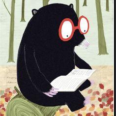 Mole; red glasses