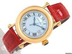 Cartier Diabolo Damenuhr 18K Gelbgold / Leder - Quarz - Ø 32 AU$7,571 mm