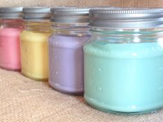 Mason Jar Candle 5 Soy Candles for Sale Hand by SugarBelleCandles  #masonjarcandles #soycandles #giftideas