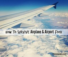 How to Survive Airplane and Airport Food - Strategies/Suggestions for things to bring with you to avoid eating airplane food.