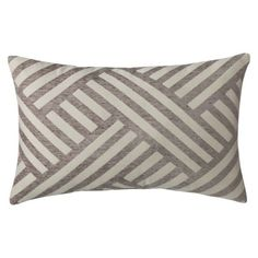Threshold™ Oblong Basketweave Toss Pillow - Gray (14x21) $25