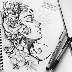 """Check out this @Behance project: """"Pensées / Tattoo design"""" https://www.behance.net/gallery/45647355/Penses-Tattoo-design"""